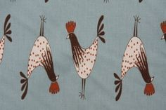 For curtains? Premier Prints Crowing Printed Cotton Drapery Fabric in Village Blue/ Natural $7.48 per yard