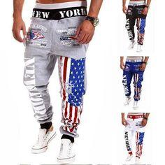 USA New York Printed Fashion Joggers