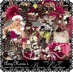New Christmas Kits. Available with or without tube at http://amymarieskits.com/store/