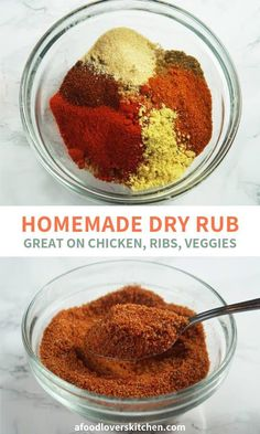 Perfectly-Balanced Homemade Dry Rub - I swear by this bbq rib rub. It's great on all types of meat, from ribs to wings to pork tenderlo - Oven Baked Pork Ribs, Ribs Recipe Oven, Ribs In Oven, Bbq Rib Dry Rub Recipe, Bbq Rib Rub, Dry Rub For Ribs, Barbecue Pork Ribs, Spice Rub For Ribs, Dry Rub Recipes