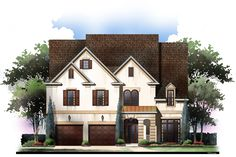 4 Bed Stone and Stucco Classic - 12303JL | Traditional, Narrow Lot, 2nd Floor Master Suite, Butler Walk-in Pantry, CAD Available, Den-Office-Library-Study, Jack & Jill Bath, PDF | Architectural Designs