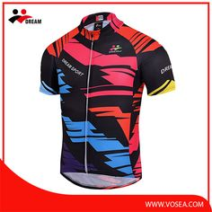 4c15bc14aff4 Dream Sport red and black cycle jersey in sublimated Cycling Jerseys
