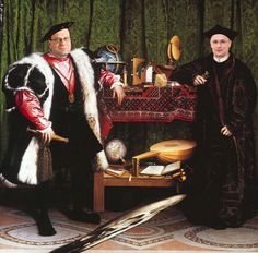 The Ambassadors a oil painting was done why Hans Holbein. Artist: Hans Holbein the Younger Location: NAtional Gallery, London in x in Suggested: oil on wood Period:The Renaissance Renaissance Kunst, Renaissance Artists, Renaissance Paintings, Les Ambassadeurs Holbein, Chef D Oeuvre, Oeuvre D'art, Johannes Vermeer, Hans Holbein Le Jeune, Hans Holbein The Younger