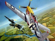 P-51 Mustang and Me262 Messerschmitt