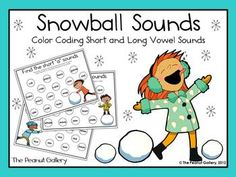 Add some color and fun to vowel sounds this winter! Both short and long vowel sounds are included. ($)