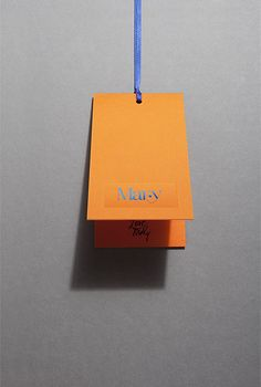 Swing Tags - Design & production Nice colour contrast Fashion Tag, Fashion Labels, Swing Tag Design, Collateral Design, Identity Design, Brand Packaging, Packaging Design, Eco Brand, Fashion Branding