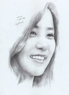 Apink ChoRong by Vanwall Pencil Portrait Drawing, Pencil Art Drawings, Portrait Art, Drawing Sketches, Painting & Drawing, Human Body Drawing, Abstract Line Art, Drawing People, Charcoal