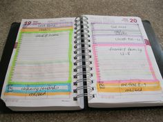 Not a bad way to categorize a day into blocks of time and tasks {My Cool  Awesome Time Management System}