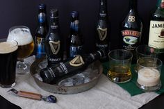 The Drinks: Guinness, Bailey's and Jameson are a must for your St. Patrick's day party.