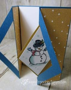 Hello Stampers It time for a fun fold. It's my first time to try this one out. Diamond Handle card a little challenge but I got it. ...