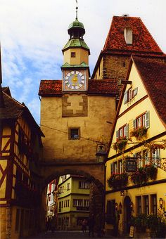Rothenburg ob der Tauber, Germany.  This place is a super cool medieval walled city...especially awesome around the holiday season.
