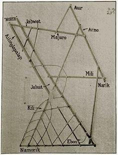 antica mappa polinesiana