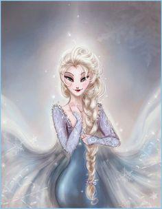 Queen Elsa (from Frozen an upcoming Disney film) by Arbetta.deviantart.com on @deviantART