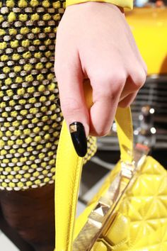 Studded manicures by deborah lippmann at kate spade fall 2013