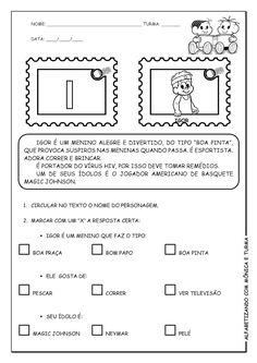 Alfabetizando com Mônica e Turma: Atividades de interpretação com personagens - G, H, I