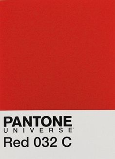 Color of the Season. Pantone Red