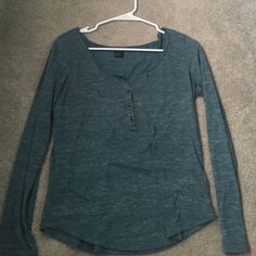 Long\roll up sleeve shirt 4 button down or up, lightly worn, blue, Nollie Nollie Tops Tees - Long Sleeve