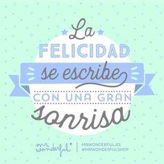 La felicidad se escribe con una gran sonrisa ¡Y la tuya es perfecta! Happiness is written with a great big smile. Positive Affirmations, Positive Quotes, Motivational Quotes, Funny Quotes, Inspirational Quotes, Quotes Quotes, Strong Quotes, French Quotes, Spanish Quotes