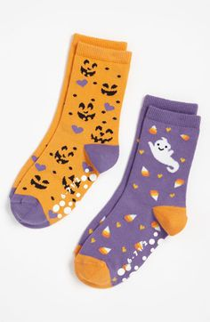 Nordstrom 'Sweet Ghost' Crew Socks (2-Pack) (Toddler & Little Girls) | Nordstrom
