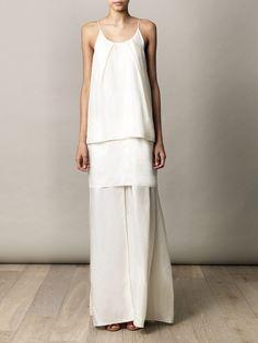 Acne - Satya, layered long dress, in ivory, Cute Fashion, Look Fashion, Womens Fashion, Fashion Design, Sweet Style, Style Me, Boho Mode, Acne Studios, Style Feminin