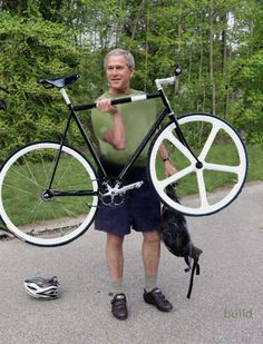 George W. Bush with a Fixed Gear Bike