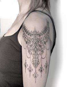 tattoo under bum cheek & tattoo under bum cheek . tattoo under bum cheek tat . tattoo under bum cheek ink . under bum cheek tattoo women Lace Sleeve Tattoos, Spine Tattoos, Lace Tattoo, Body Art Tattoos, Girl Tattoos, Mandala Tattoo Design, Henna Tattoo Designs, Tattoo Ideas, Great Tattoos