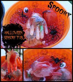 Halloween Sensory Tub!! Spooky FUN!!