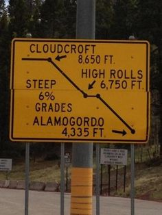 Twisty roads and canyons in and around Cloudcroft New Mexico    http://esr.cc/WuEanR
