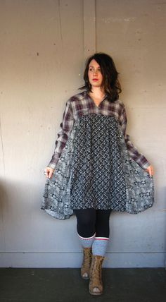 upcycled dress Romantic flowing clothing by lillienoradrygoods