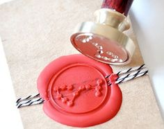 B20 Wax Seal Stamp Message Words Thank You by Backtozero on Etsy
