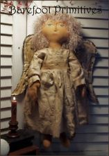 Creator of primitive and folk art pieces and patterns, time worn treasures bringing the past to the present. Fabric Doll Pattern, Fabric Dolls, Doll Clothes Patterns, Doll Patterns, Crochet Patterns, Primitive Patterns, Madame Alexander Dolls, Doll Tutorial, Christmas Angels