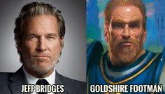 Jeff Bridges is the Goldshire Footman
