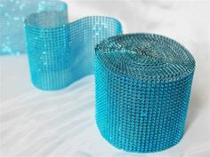 Wrap up the bouquets or centerpieces with diamond  trim in #turquoise http://www.tableclothsfactory.com/Diamond-Roll-4-5-x10yards-roll-Turquoise-p/k32d_dia_gina_turq.htm#