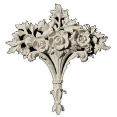 """Centers CP-145B Approx. 12""""x12-1/2""""x1-3/4"""" Floral Center, Part of Versailles Ceiling Collection."""