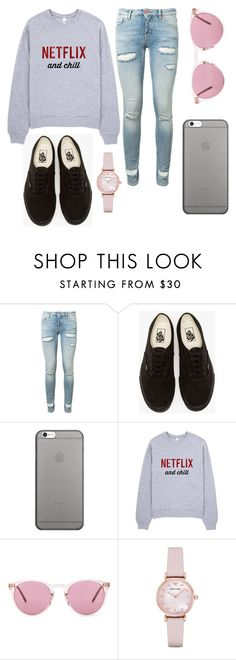 """""""Sin título #61"""" by abril-422 on Polyvore featuring moda, Off-White, Vans, Native Union, Oliver Peoples y Emporio Armani"""