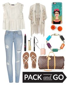 """""""Traveling to Mexico City"""" by xxmonnyxx ❤ liked on Polyvore featuring Violeta by Mango, Billabong, Louis Vuitton, Casetify, Bling Jewelry, NARS Cosmetics, Miss Selfridge, Essie, Ardency Inn and Kevyn Aucoin"""
