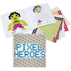 Pixel Heroes Sticker Book