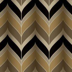 """Modern Luxe Gatsby 27' x 27"""" Herringbone Wallpaper"""