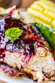 Blackberry Balsamic Glazed Chicken