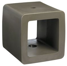 Cube Parasol base Taupe cube by Sywawa
