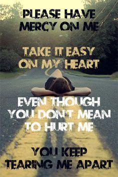Mercy by Shawn Mendes. Lyric art.
