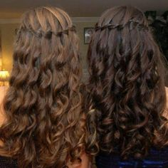 waterfall braids - For the Bridesmaids -