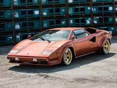 """#3: 1979 Lamborghini Countach LP400S: This car, chassis no. 1121098, was the last left-hand-drive, U.S.-delivery Series I built. Appearing in 1978 (4 years after the original LP400 production version), the LP400S added wider Pirelli tires that were covered in muscular arches, with the initial Series I being a limited 50-car run equipped with the famous Campagnolo Bravo wheels (nicknamed """"telephone dials"""" by enthusiasts). Sold for $1.012M @ auction in Monterey (8/15/14)."""