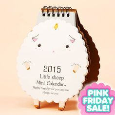 ❤ PINK FRIDAY SALE - SAVE UP TO -80% ❤ Pink Friday is coming and over 500 cute products have been discounted up to -80%! For example this Sheep Calendar for 2015 is discounted -50% ► http://www.blippo.com/sheep-2015-desk-calendar.html