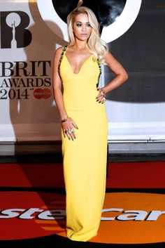 Rita Ora, One Direction and Beyonce were among the stars to dazzle at the 2014 BRIT Awards in London on Feb. 19, 2014. See who else hit a high note on both the red carpet and the stage ...Looks too much like a Mariah wanna be