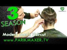 Modern men's haircut. Elena Kashtanyuk. parikmaxer tv tv hairdresser