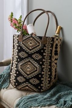 Tapestry Tote - Woven Cotton Tote Bag, Tapestry Bag | Soft Surroundings