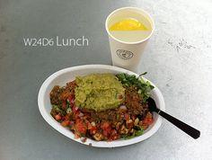 July 22nd 2013 - W24D6 - Yesterday's lunch - Chicken, black beans, salsa, lettuce, guacamole.