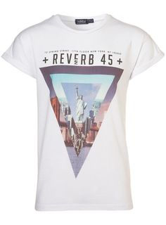 NYC TRIANGLE HIGH ROLL T-SHIRT  Price: $36