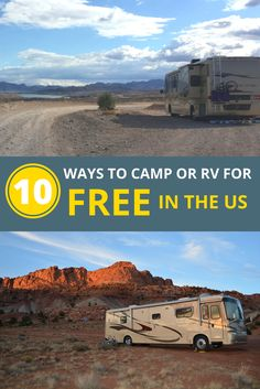 Best places to camp or stay in an RV for FREE or close to it in the US. There really is such a thing as a free campsite!